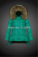 High Quality Fashion Women Down Coat Luxury Big Fur Collar Warm Winter Jacket Coat Women Down Parka 2015 New Lady Down Jacket