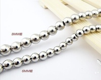 Original European and American jewelry titanium steel men's chain necklace beads12MM 6MM 8MM and never rust Father's Day