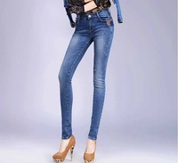 2014 New Autumn Jeans Women Feminina Fashion Pencil Jeans Pants Sexy Denim Skinny Jeans 602