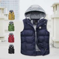 New 2014 Thick Plus Size 3XL Winter Vest With Cotton Vests Men Brand Mens Winter Warm Coat  Waistcoat Couples Sleeveless Jacket