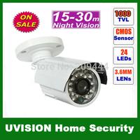 Surveillance Security 1000TVL 6mm Lens 24 Leds waterproof IP66 indoor outdoor IR Camera free shipping