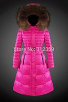 2015 New Arrival Women Down Jacket Brand Luxury Big Fur Hood Lady Down Coat With Belt High Quality Warm Long Ladies Down Parkas