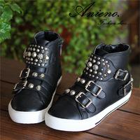 2014 new brand punk rivet high top kids sneakers sport shoes toddler girl boy sapato infantil menina children running shoe
