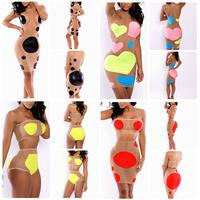 2014 High Waisted Heart Pattern Geometric Autumn Sleeveless Vestidos Sexy Club Women Summer Casual Bodycon Dress Party Dress