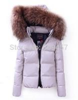 2013 Winter fashion women duck down jacket coat luxury raccoon parkas outwear super warm100% quality S-XL