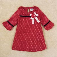 Retail Free Shipping Brand Girl Dress Half Sleeve Petticoat For Girl With Beautiful Flower Kids Dot Pattern Children Wear H5096