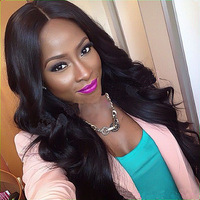 Unprocessed virgin brazilian hair african american glueless full lace wigs/lace front human hair wigs for black women