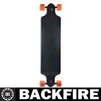 "Backfire New Design canadian  42"" drop through longboard black  long board skateboards complete"