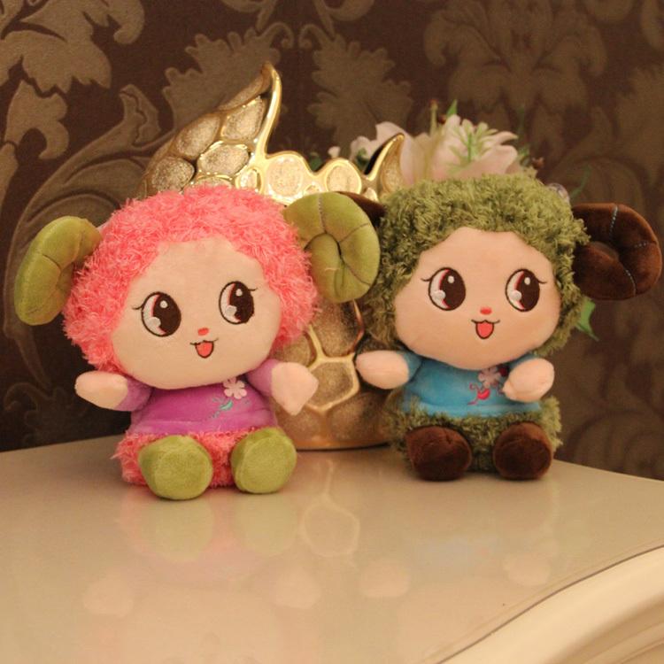 Lunar New Year Chinese Zodiac sheep toys mini stuffed sheep toys plush dolls for new year, 18 cm stuffed animals soft baby toys(China (Mainland))