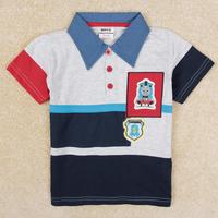 Retail 2014 New kids cartoon Thomas number 1 t-shirt boys short sleeve cotton tees tops children summer t shirts outwear C5189