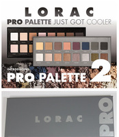 Free Shipping by DHL 20Pieces/Lot 2014 New Lorac Pro Palette 2 16 Colors Eyeshadow with Primer real pics!!