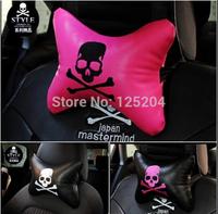 Free shipping Automobile interior four seasons general skull car neck pillow JP DAD style headrest pillow car cushion pillow