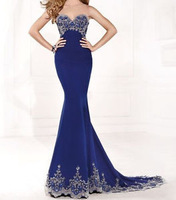 New Sexy Evening Dress Mermaid Long Beaded Prom Party Pageant Formal Dress