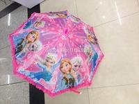 HOT Selling Frozen lace umbrella Long-Handle Children umbrella Princess Elsa Anna & Olaf Printed Cartoon Riany Umbrella