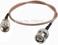 10pc BNC male plug to mini UHF miniUHF male plug center RF Antenna Extension Cable RG316  50CM