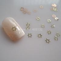 MS-323-2 Free Shipping Metal Gold Star Nail Art Metal Sticker Nail Art Decoration Fancy Outlooking