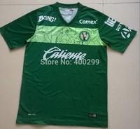 Free Shipping Best Thailand quality Tijuana Soccer Jerseys 2015  Mexico Club Xolos Green Futbol Camiseta Embroider Logo