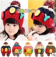 New  Spring Children's Knitted Hats Boys Caps For Children Accessories Woolen Baby Girls Autumn Hat Beanie DropShopping #934