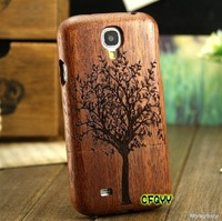 Genuine Real Natural Wood Bamboo Wooden Case Cover For Samsung Galaxy S4 I9500