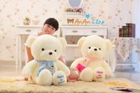 New Cute Stuffed Animal Doll 39'' 1m Big Huge Plush Scarf Teddy Bear Soft Toy Good Quality Hold Pillow Birthday Christmas Gift