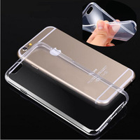 500pcs/lot The Thinnest Transparent TPU Skin Case For iPhone 6 4.7 inch