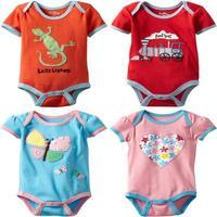 Wholesale - New arrive Newborn Bodysuits Baby Boy Clothes summer cotton jumpsuit tees shirts-ZQZ277C