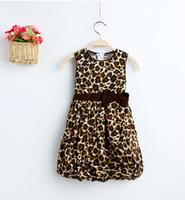 Free shipping - child child dress skirt is made of pure cotton leopard cuhk detonation model Lantern of the girls dress