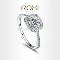 ROXI Alloy Plated AAA Zircon Fashion Ring Jewelry CZ Diamond  Crystal For Wedding Women Girl's Gift