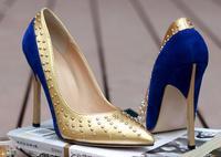 woman high stiletto heel platform pumps ladies shoes sexy shoes dress night party individual gold rivets shoes jjm333-6