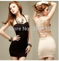 2014 new sleeveless LACE SLING BAG hip Dress Free Shipping