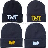 "New ""WU Tang""  ""TMT"" Men Women Hip Hop Rap Hat Cotton knit Winter Skiing Warm Cap Stretchy Adult"