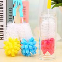 handle sponge head belt cup brush bottle cup cleaning brush