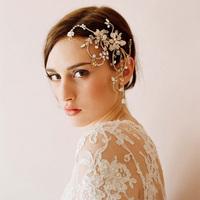 party wedding bridal hair accessories handmade hair comb silver crystal headwear rhinestone flower bridal combs free shipping