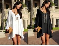 New Autumn roupas femininas Women Plus Size Casual Tops White Black V-neck Long Sleeve Loose long T-Shirts renda M L XL Blouses