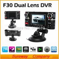 HD 720P Car DVR F30 2.7 TFT LCD 8 IR Night Vision withDual Lens Car Camera Dash Vehicle DVR Cam Video Recorder Camcorder Carcam