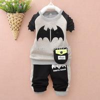 New 2014 Children's Clothing Sets Batman Boys' Autumn Sets Baby Boys Clothing Sets Kids Fall Clothes