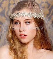 free ship fashion rhinestones headband bridal hair accessories wedding jewelry hair band crystal handmade hairband headwear