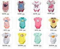 Boy's cotton jumpsuit tees shirts New arrive Newborn Bodysuits Baby Boy Clothes summer 5pcs/lot -ZQZ278C