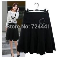 Free Shipping  2014 Fashion Women Skirts Vintage Casual Pleated Skirts Autumn Ladies Work OL skirts M-4XL