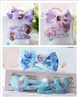 Frozen Hair Accesseries sets Arrive Headband Hair Clips for baby Girls Best Gift for You Children 3pcs/set