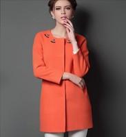 European Grand Prix 2014 autumn cashmere coat winter coat jacket beaded long woolen coat NDX142 Y9W
