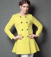 Fall and winter clothes new Korean woolen coat small fragrant wind Nizi Slim thin coat fleece NDX143 Y9W