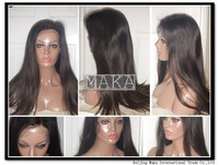 Hot 130% DensityMalaysian Human Hair Straight Human hair front lace wig/Full lace wig glueless with baby hair bleached knots
