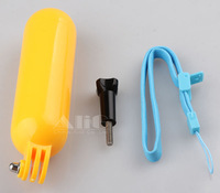 10pcs Go Pro Hero 3+ 3 2 1 SJ4000 Yellow Bobber Floating Monopod Hand Handheld Grip Mini Camcorder GoPro accessories Wholesale