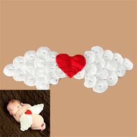 Retail Latest Cute Angel Wings Newborn Girls Photo Props Crochet Baby Cover Baby Infant Newborn Costume Clothes Drop shipping