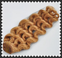 Factory a discount brazilian loose wave virgin hair #27 Strawberry Blonde virgin hair Double weft remy human hair weave 100g
