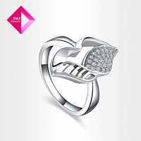 D&Z Hot Sale gold plated CZ Diamond Rings for Women Wedding Engagement O Finger anel aneis ,ring series