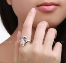 D Z Hot Sale gold plated CZ Diamond Rings for Women Wedding Engagement O Finger anel