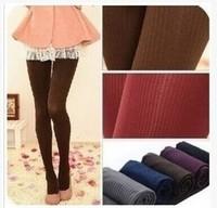Min Order $15(mixed order)  2014  fashion  women  Thin vertical stripes  velvet  pantyhose  Bottoming socks   MX