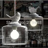 Birds Pendant Light Modern Minimalist Creative Personality Retro Art Glass Pendant Light Restaurants Bedroom Aen Cafe Lights